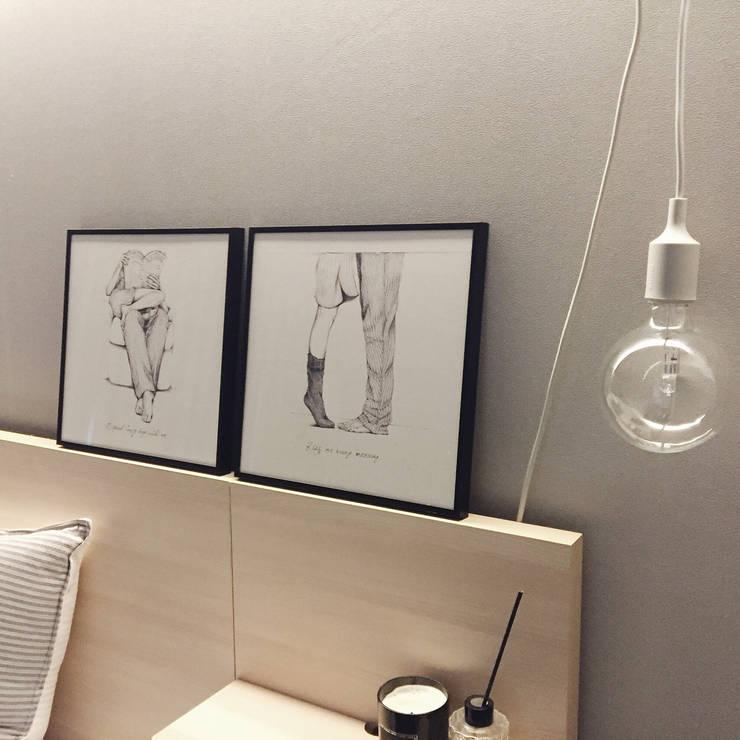 Paredes y pisos de estilo  por 진에이치 Jin H,art