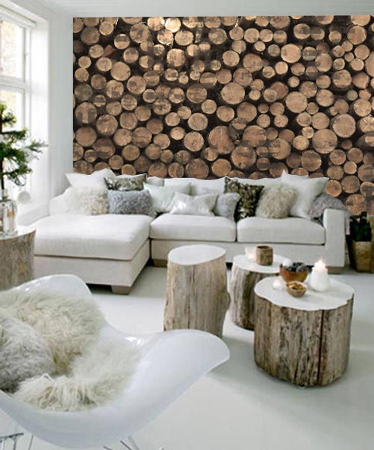 wood: Pareti & Pavimenti in stile  di Creativespace