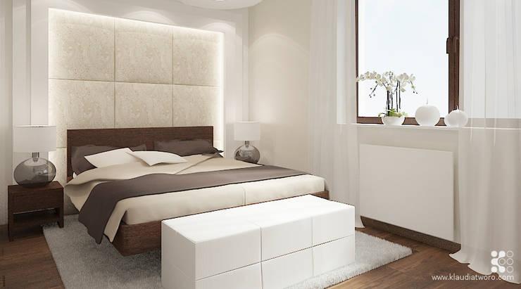 MIESZKANIE NA KAZACHSKIEJ: styl , w kategorii Sypialnia zaprojektowany przez Klaudia Tworo Projektowanie Wnętrz Sp. z o.o.,Nowoczesny