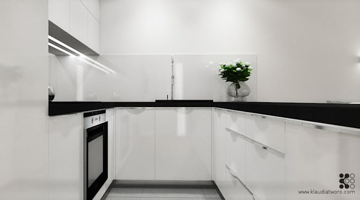 Cocinas de estilo  de Klaudia Tworo Projektowanie Wnętrz Sp. z o.o., Moderno