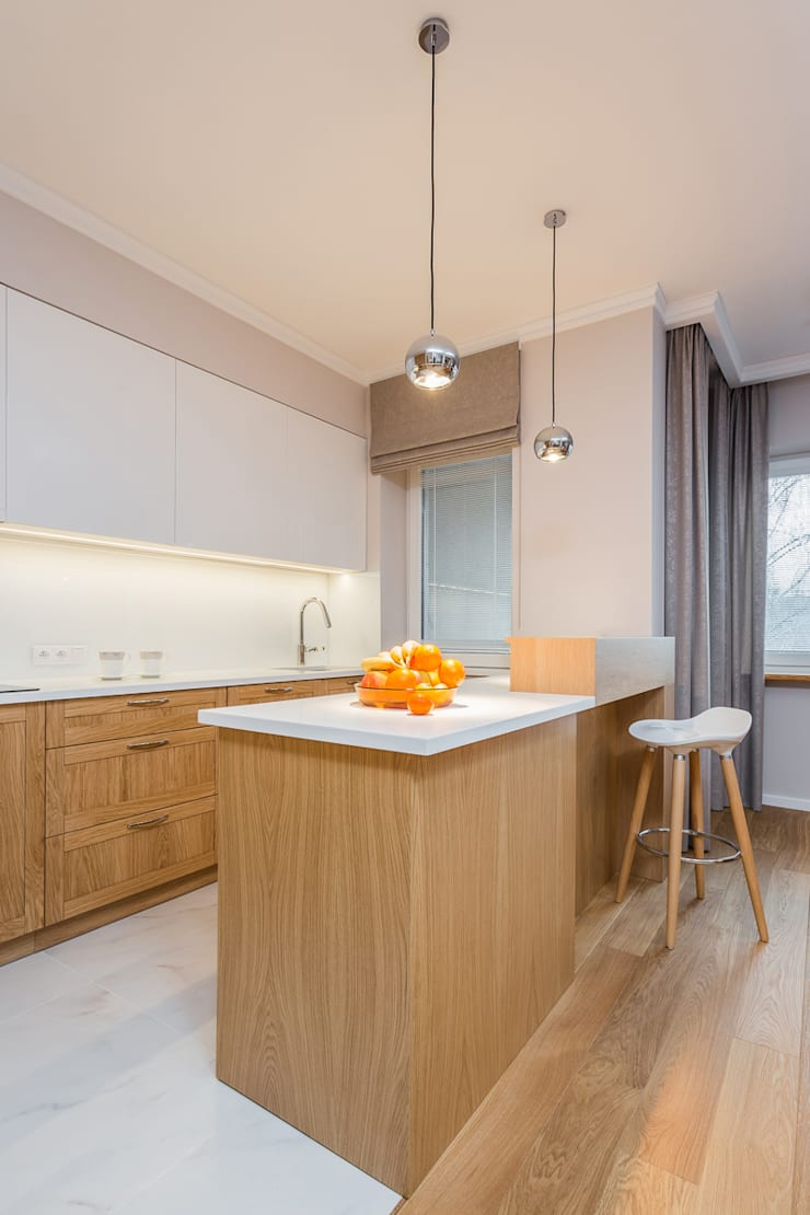 mieszkanie Ursynów, Warszawa: styl , w kategorii Kuchnia zaprojektowany przez Kameleon - Kreatywne Studio Projektowania Wnętrz