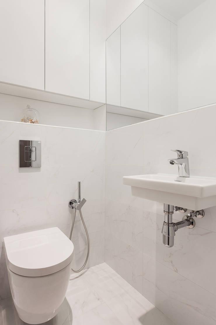mieszkanie Ursynów, Warszawa: styl , w kategorii Łazienka zaprojektowany przez Kameleon - Kreatywne Studio Projektowania Wnętrz