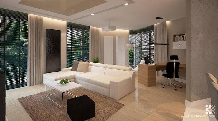 WILLA ALTOWA: styl , w kategorii Salon zaprojektowany przez Klaudia Tworo Projektowanie Wnętrz Sp. z o.o.