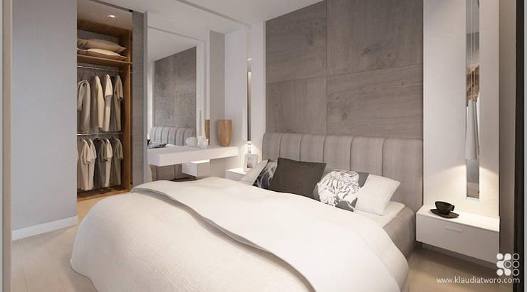 WILLA ALTOWA: styl , w kategorii Sypialnia zaprojektowany przez Klaudia Tworo Projektowanie Wnętrz Sp. z o.o.