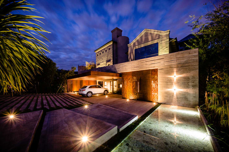 CASA BNG: Casas de estilo moderno por BLOS Arquitectos