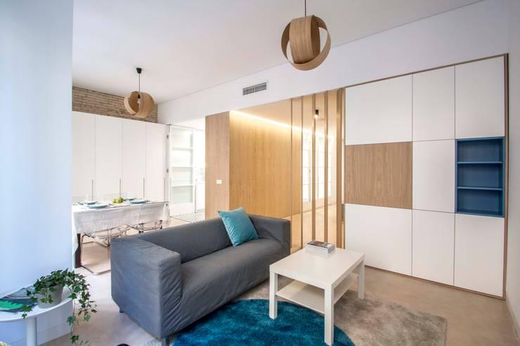 غرفة المعيشة تنفيذ DonateCaballero Arquitectos