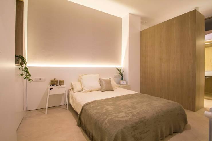 غرفة نوم تنفيذ DonateCaballero Arquitectos