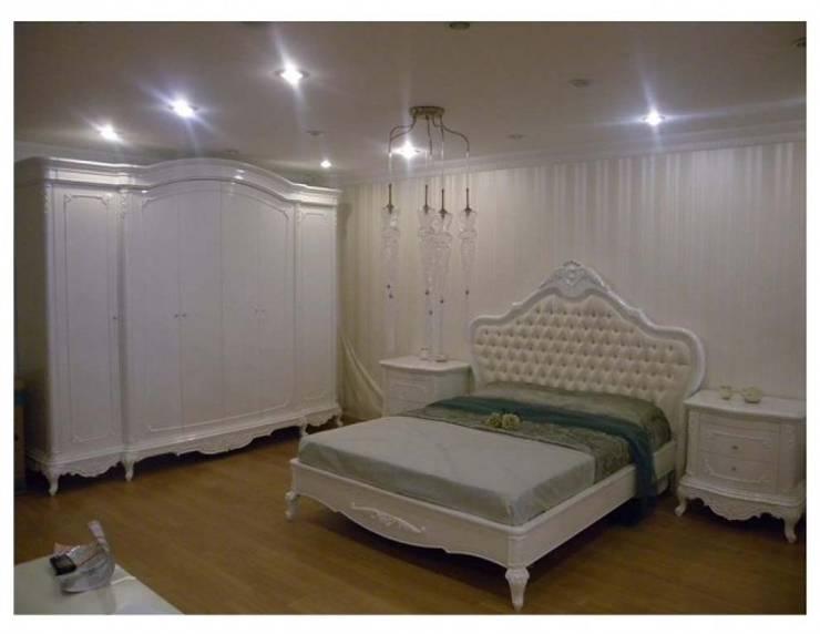 BOSTAN MOBİLYA VE TASARIM SAN.TİC.LT.ŞTİ – Bostan Klasik Yatak Odası Takımı:  tarz , Klasik Ahşap Ahşap rengi