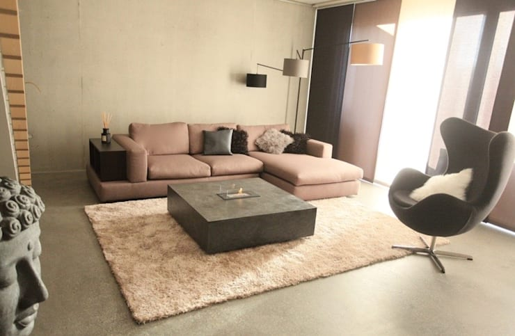 Appartement contemporain zen: Salon de style de style Moderne par CSInterieur