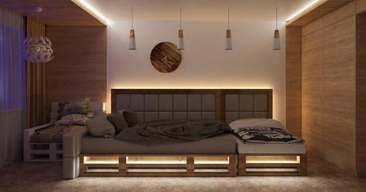 Визуализация проекта спальни г.Пермь: Спальни в . Автор – Alyona Musina
