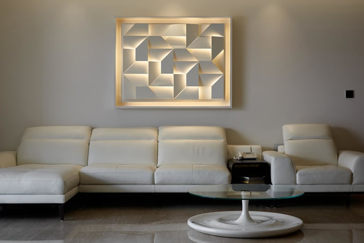 Apartment at Tirupur:  Living room by Cubism