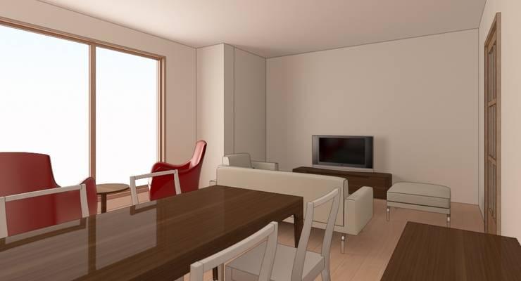 İdea İç Mimarlık – Bayat Konut Dönüşüm:  tarz Oturma Odası, Modern