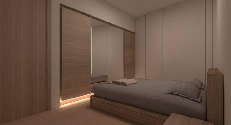 İdea İç Mimarlık – Bayat Konut Dönüşüm:  tarz Yatak Odası, Modern