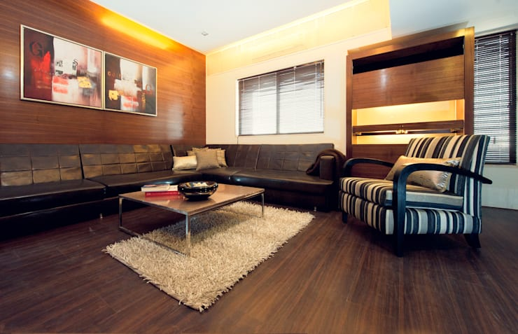 Show Apartment: modern Media room by Studio A