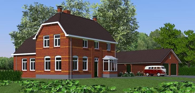 Ontwerp energieplus huis met Jugenstil kenmerken:  Huizen door Villa Delphia