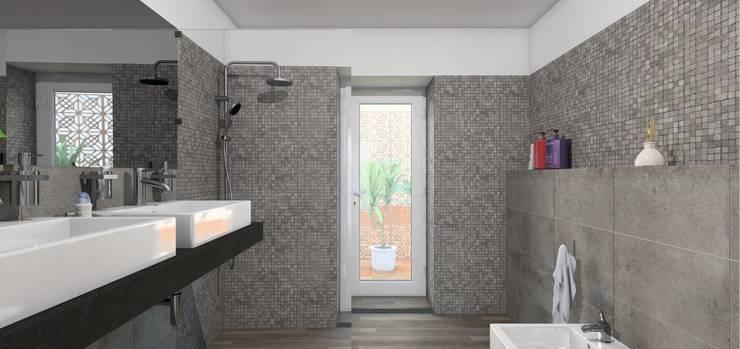 Remodelação Calçada do Combro: Casas de banho  por Arqui3 Arquitectos Associados