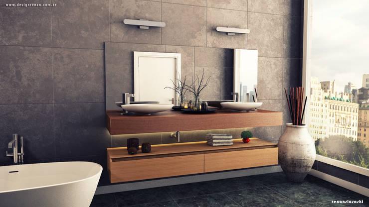 Primeira revisão do projeto 3D: Banheiros  por Renan Slosaski