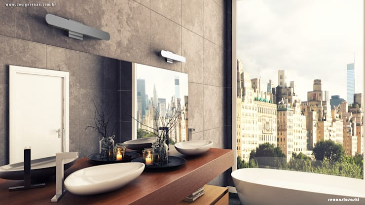 Projekty,  Łazienka zaprojektowane przez Renan Slosaski