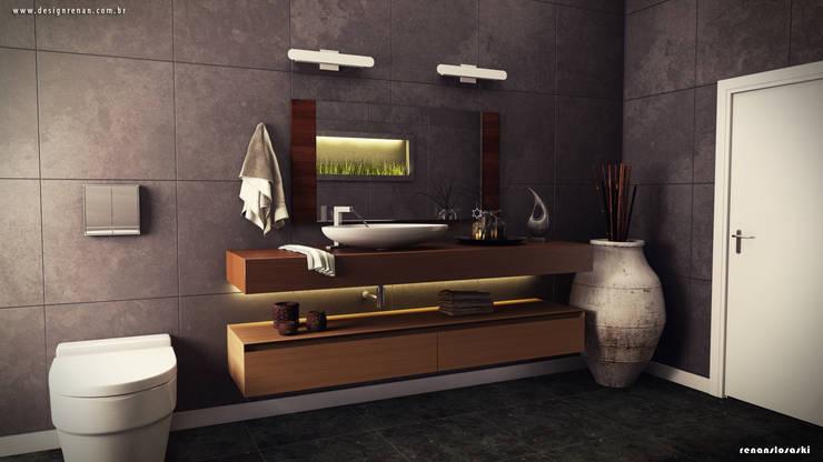 Primeiro cenário do projeto 3D: Banheiros  por Renan Slosaski