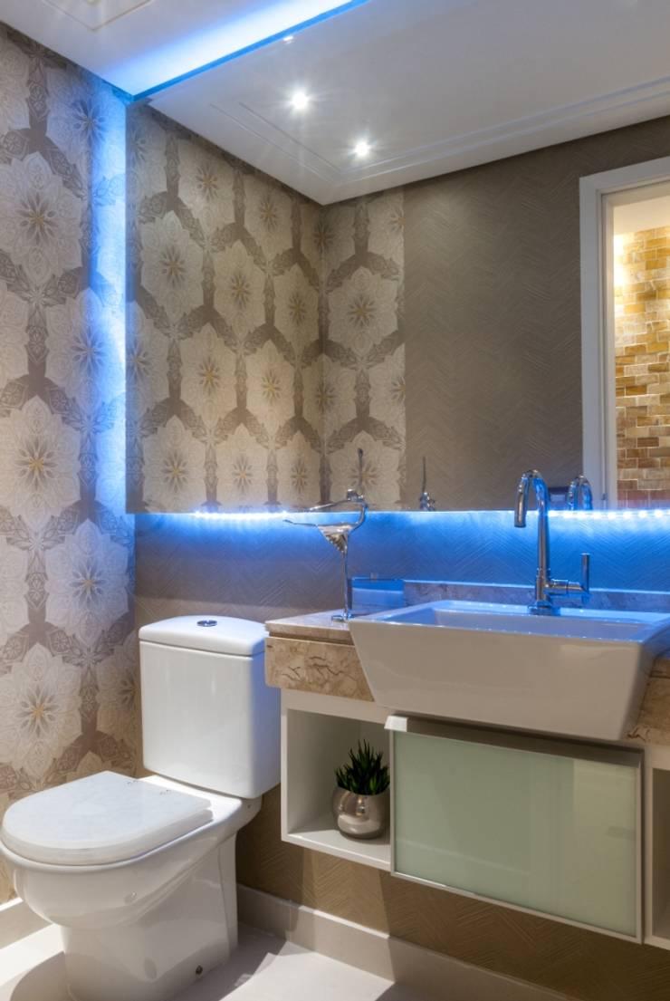 Lavabo: Banheiros  por Nilda Merici Interior Design
