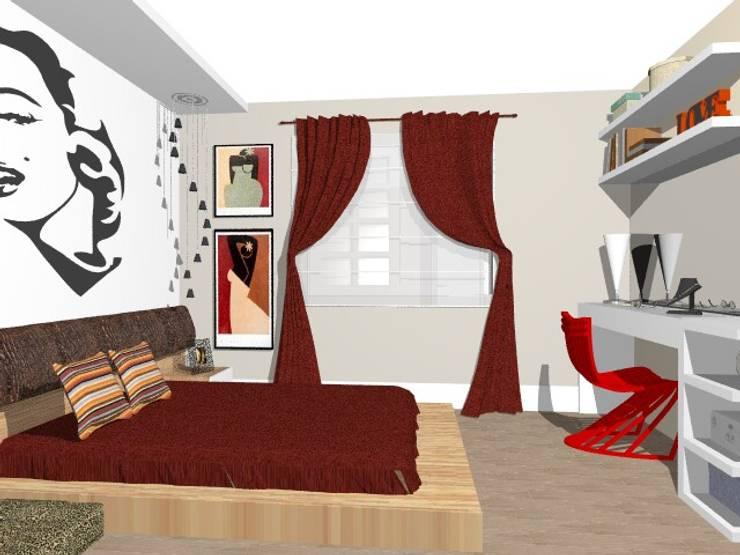 Suite da Mãe Jovem: Quartos  por Nilda Merici Interior Design