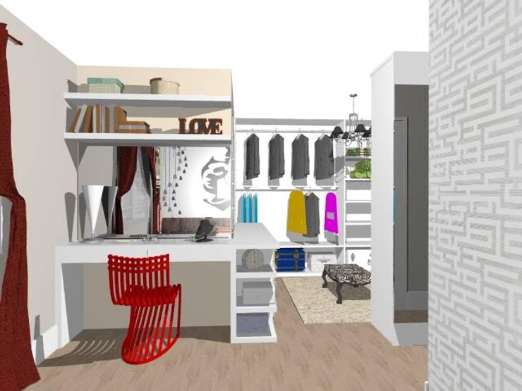 Closet da Mãe Jovem: Closets  por Nilda Merici Interior Design