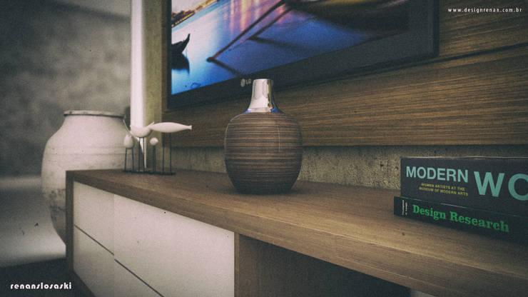 Foco no objeto decorativo: Salas de estar  por Renan Slosaski