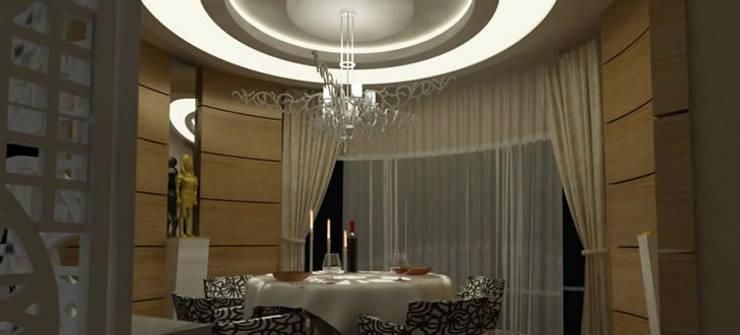 VRLWORKS – Ahmet Önçelik Villası Kemer:  tarz Yemek Odası