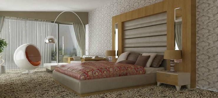VRLWORKS – Ahmet Önçelik Villası Kemer:  tarz Yatak Odası