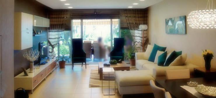VRLWORKS – Sedat Karakuy Villası Antalya:  tarz Oturma Odası