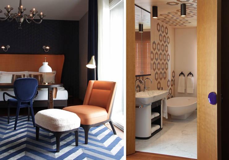Résidence privée en Italie: Salle de bains de style  par Studio Catoir