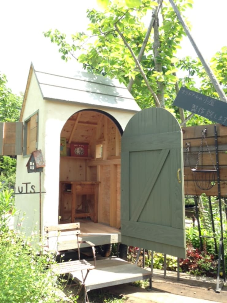 車輪hut: HUTSが手掛けた庭です。,
