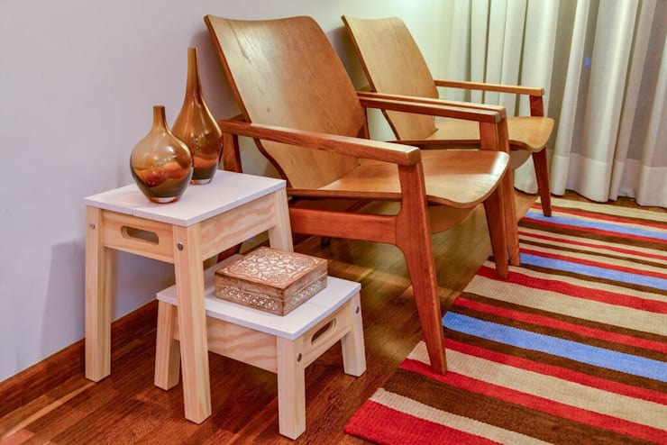 APTO VG: Salas de estar  por KFOURI ZAHARENKO arquitetura e design