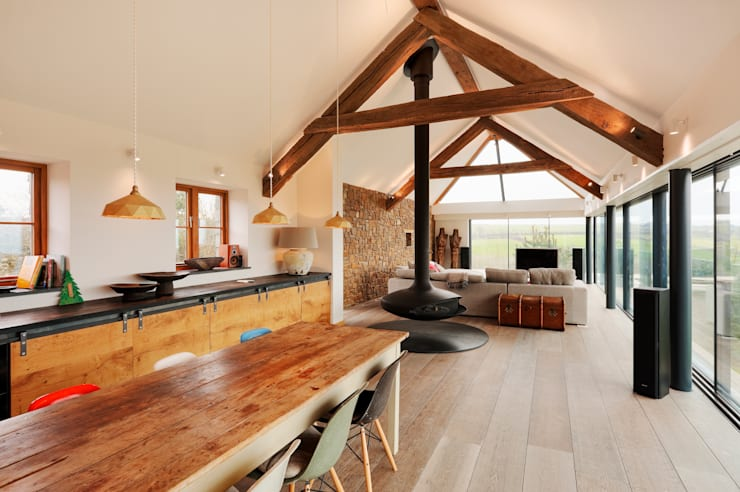 Down Barton, Devon: modern Kitchen by Trewin Design Architects