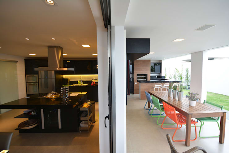 Casa AE: Cozinhas  por Arquitetura 1