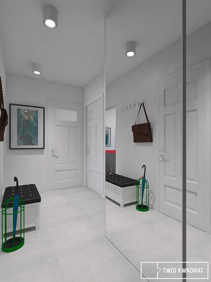 Mieszkanie Warszawa Mokotów: styl , w kategorii Korytarz, przedpokój zaprojektowany przez Twój Kwadrat,