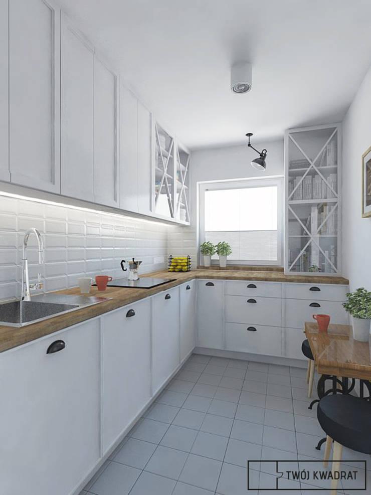 Mieszkanie Warszawa Mokotów: styl , w kategorii Kuchnia zaprojektowany przez Twój Kwadrat,