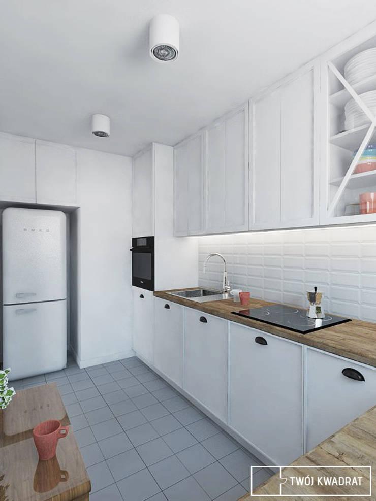 Mieszkanie Warszawa Mokotów: styl , w kategorii Kuchnia zaprojektowany przez Twój Kwadrat