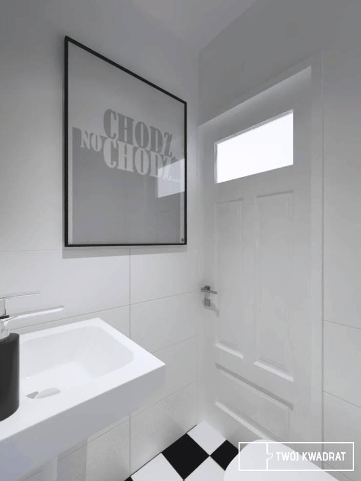 Mieszkanie Warszawa Mokotów: styl , w kategorii Łazienka zaprojektowany przez Twój Kwadrat,
