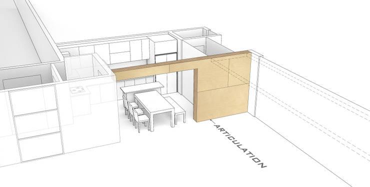 자작나무 ㄱ집 / Birch House: 수상건축의  거실