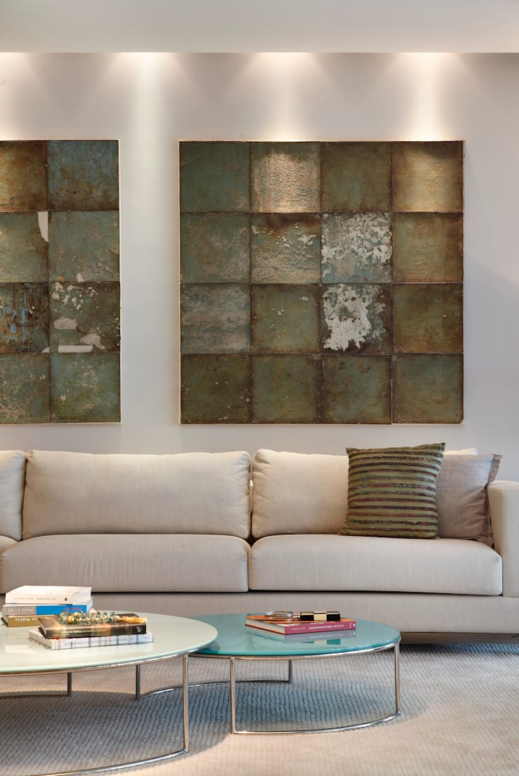 apartamento Peninsula – Barra da Tijuca: Salas de estar  por Isabela Lavenère Arquitetura