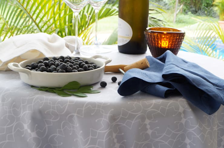 Toalha de mesa da Casa: Sala de jantar  por Bananeira Interiores