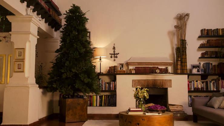 Armando el árbol de navidad.:  de estilo  por MARIANGEL COGHLAN