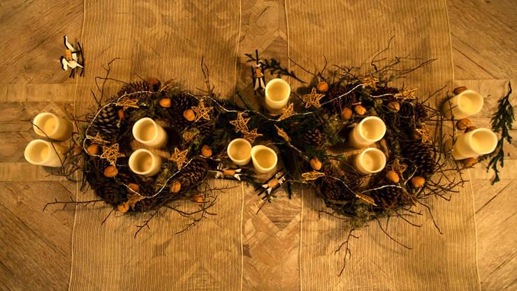 Centro de mesa navideño.:  de estilo  por MARIANGEL COGHLAN