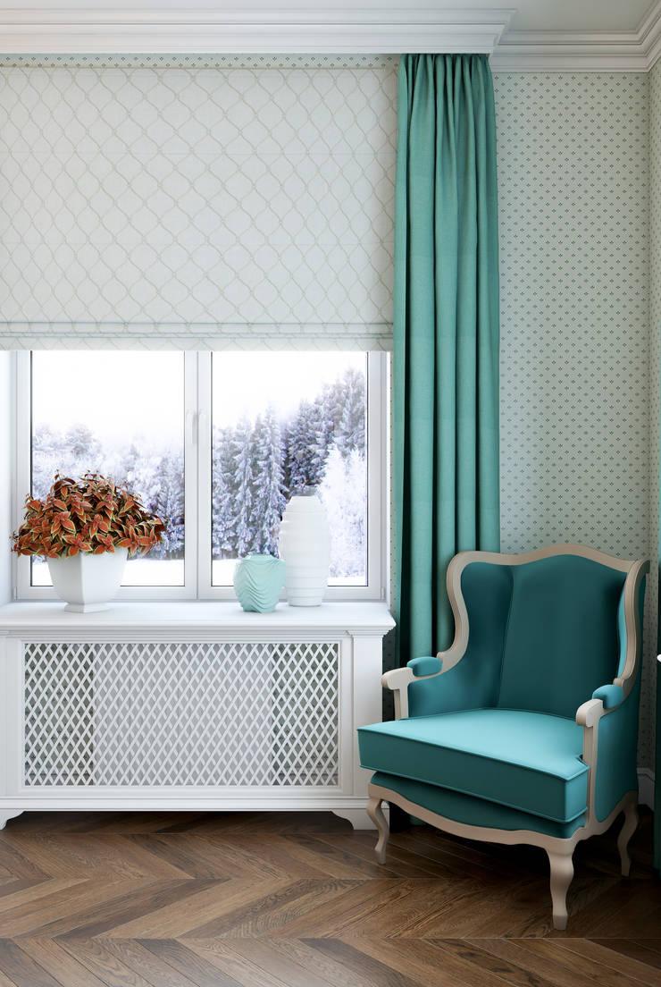 Mint and orange on snow: Спальни в . Автор – Marina Sarkisyan, Классический