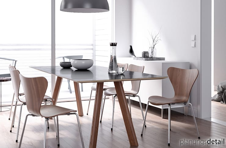 Dining room by planungsdetail.de GmbH