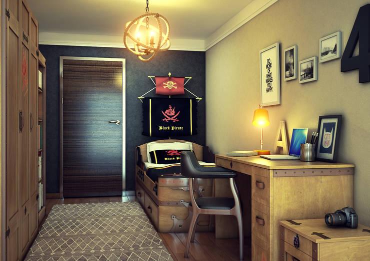 Erhan 3D Works – Genc Odasi:  tarz İç Dekorasyon