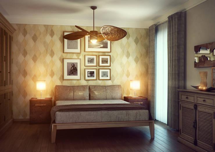 Erhan 3D Works – Yatak Odasi:  tarz İç Dekorasyon