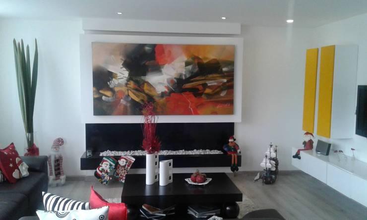 APTO. LA COLINA BOGOTÁ – 2014: Salas de estilo clásico por MS - CONSTRUCCIONES MARIO SOTO & Cìa S.A.S.