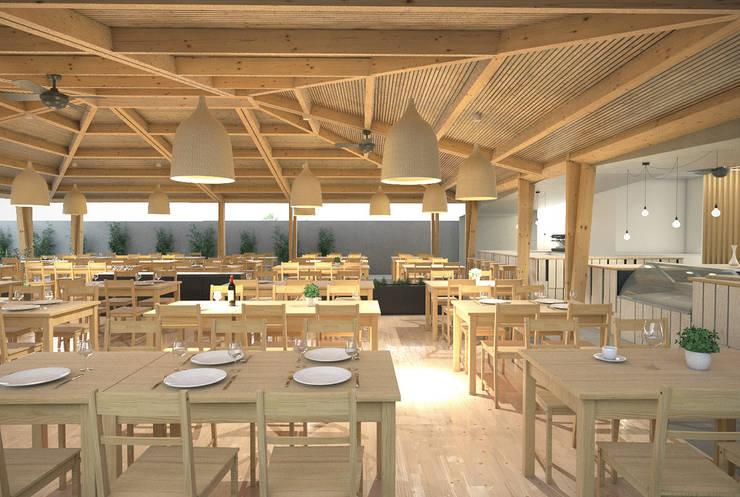 Restaurante: Cozinhas  por archi3d
